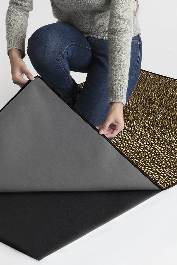 Machine Washable 5'x7' Shagreen Natural Rug