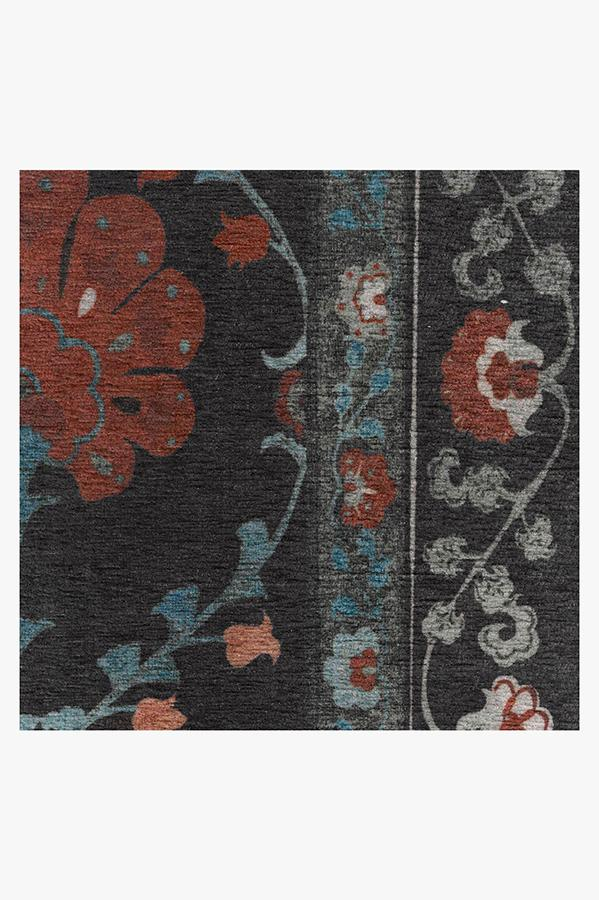 Machine Washable 2.5'x7' Sibel Raspberry Rug