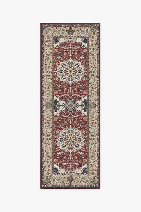 Machine Washable 2.5'x7' Sima Currant Rug