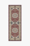 Machine Washable 2.5'x7' Sima Currant Rug Rug