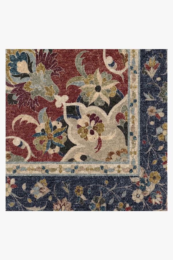 Machine Washable 2.5'x7' Sima Royal Blue Rug