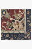 Machine Washable 2.5'x7' Sima Royal Blue Rug Rug