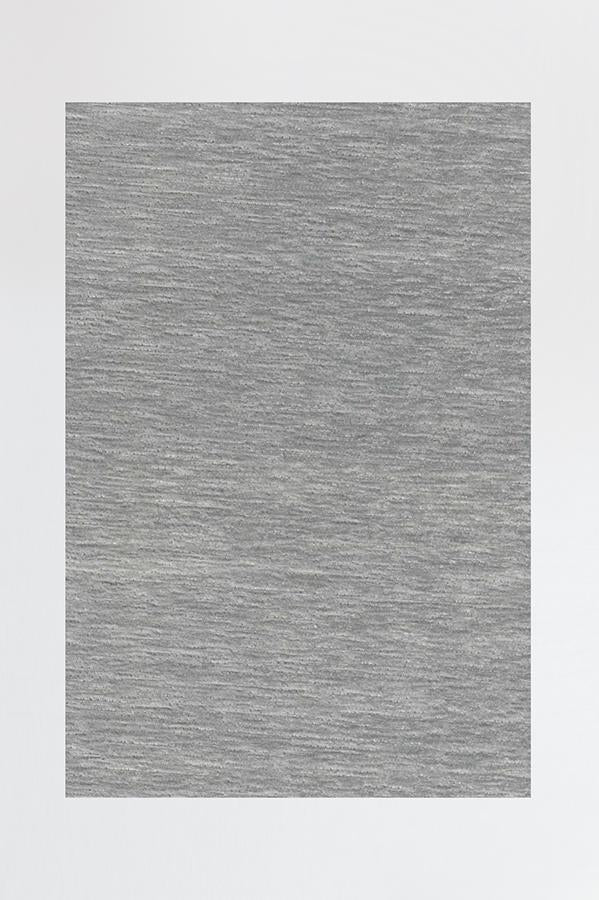 Machine Washable 2.5'x7' Solid Tonal Light Grey Rug