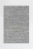 Machine Washable 2.5'x7' Solid Tonal Light Grey Rug Rug
