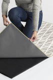 Machine Washable 2.5'x7' Soraya Trellis Ash Grey Rug Rug