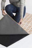 Machine Washable 2.5'x7' Soraya Trellis Rose Gold Rug Rug