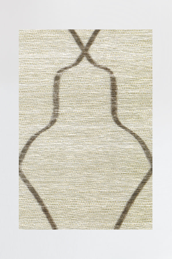Machine Washable 5'x7' Tabriz Beige Ivory Rug