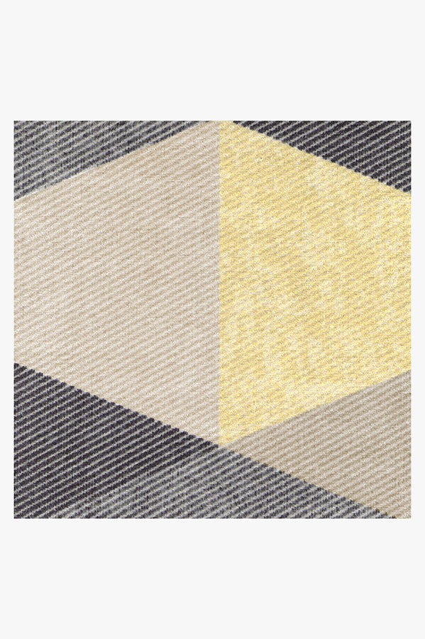 Machine Washable 2.5'x7' Tessera Yellow Rug