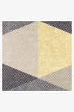 Machine Washable 2.5'x7' Tessera Yellow Rug Rug