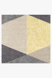Machine Washable 5'x7' Tessera Yellow Rug Rug