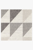 Machine Washable 2.5'x7' Tierce Grey Rug Rug