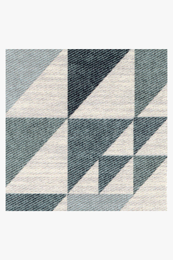 Machine Washable 2.5'x7' Tierce Teal Rug