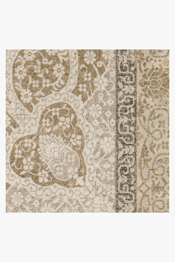 Machine Washable 2.5'x7' Tisa Natural Pearl Rug