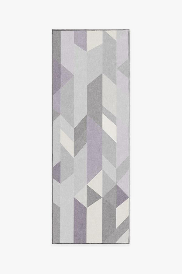 Machine Washable 2.5'x7' Urbano Lilac Rug