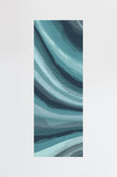 Machine Washable 2.5'x7' Watercolor Waves Blue Rug Rug