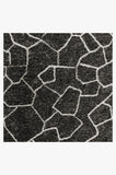 Machine Washable 2.5'x7' Ziri Black Rug Rug