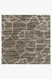 Machine Washable 2.5'x7' Ziri Warm Grey Rug Rug