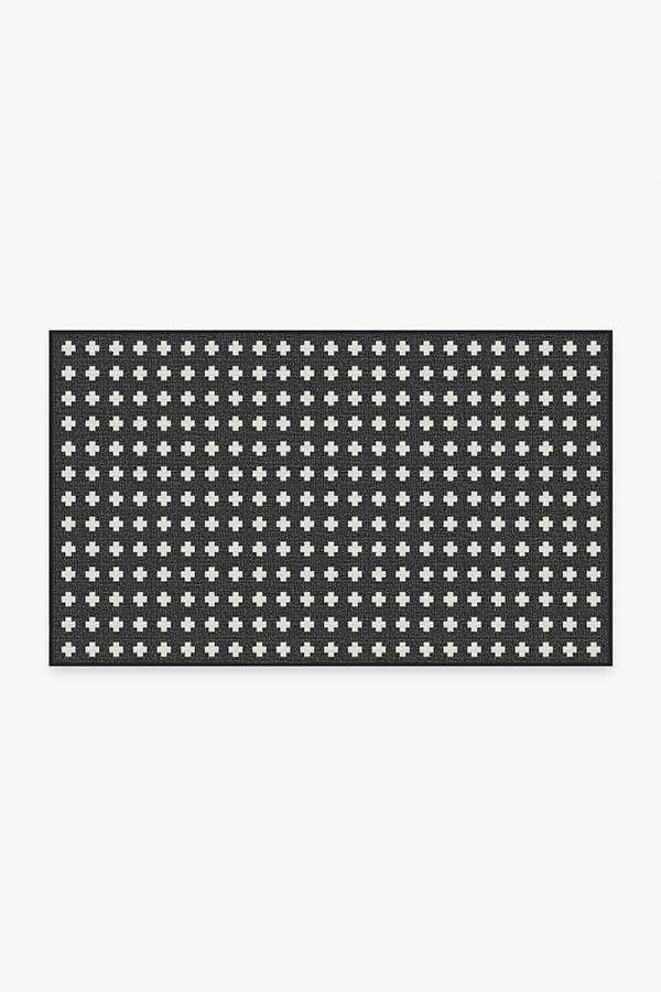 Washable Rug Cover & Pad | Outdoor Adde Black Rug | Stain-Resistant | Ruggable | 3'x5' Product Image