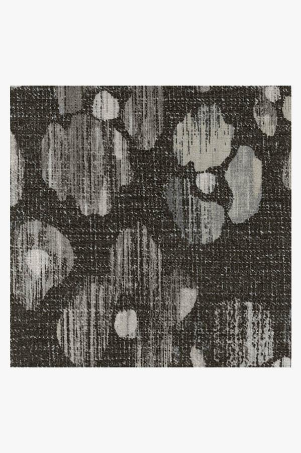 Machine Washable 2.5'x7' Ayana Charcoal Rug