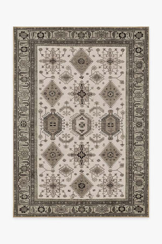 World Map Ivory Rug