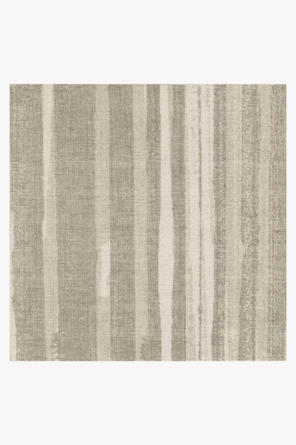 Machine Washable 2.5'x7' Caspian Stripe Natural Rug