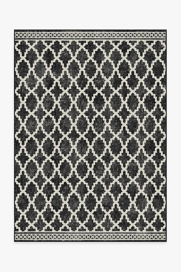 Outdoor Cleo Trellis Black Rug