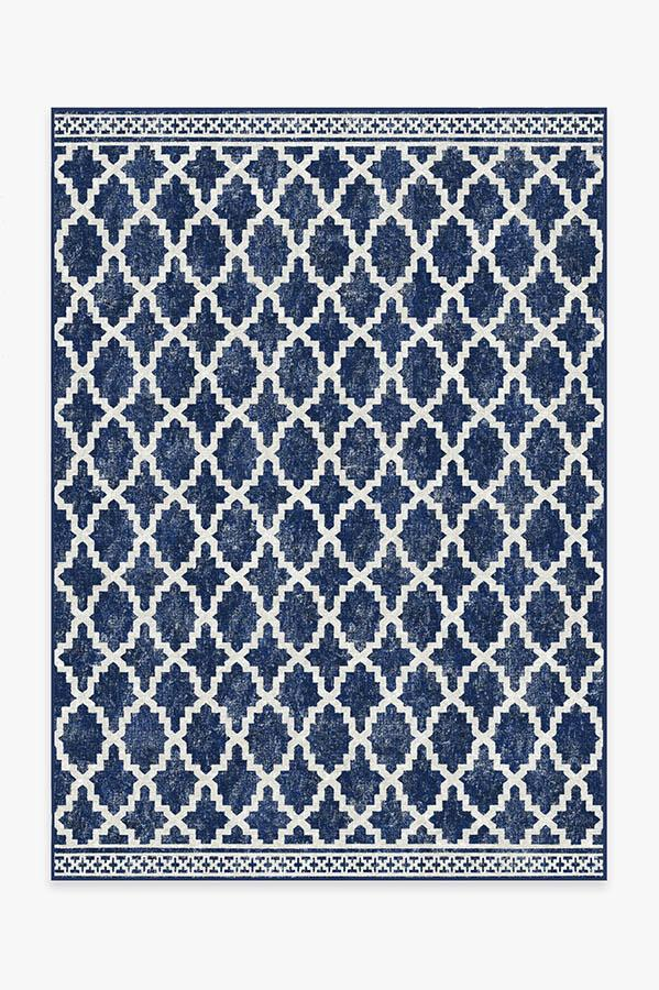 Outdoor Cleo Trellis Royal Blue Rug