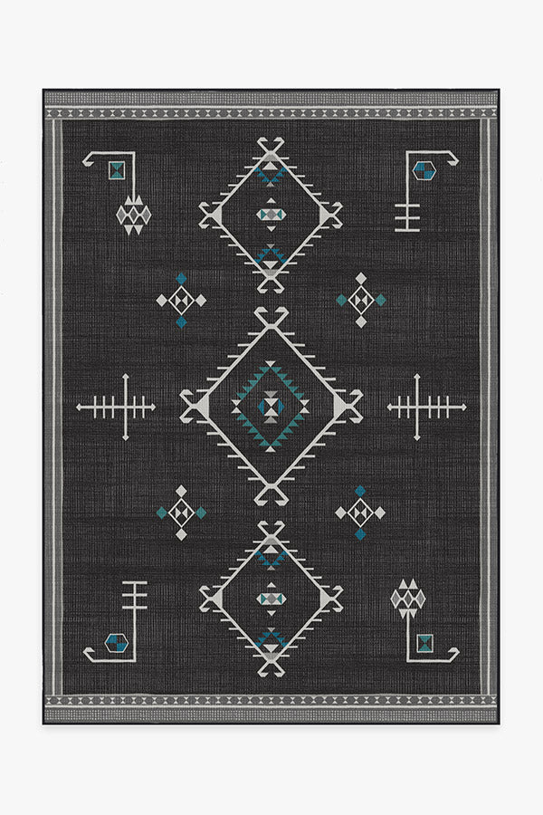 Washable Rug Cover | Damali Charcoal Rug | Stain-Resistant | Ruggable | 5'x7' Product Image