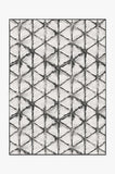 Machine Washable 5'x7' Diamond Shibori Charcoal Rug Rug