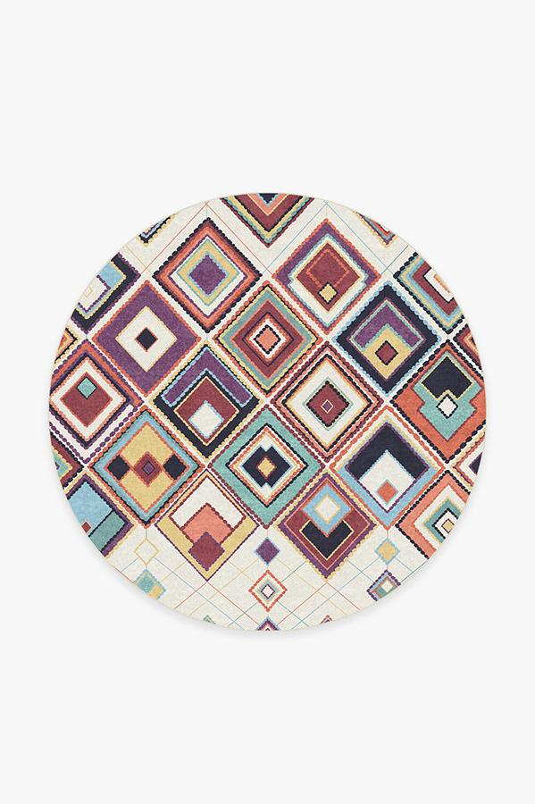 Washable Rug Cover | Esra Polychrome Rug | Stain-Resistant | Ruggable | 6' Round Product Image