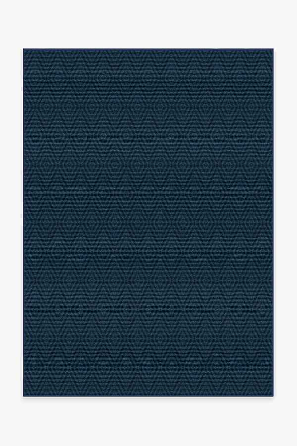Outdoor Halo Diamond Navy Rug