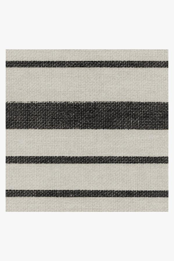 Machine Washable 2.5'x7' Hudson Stripe Black Rug