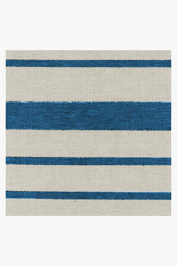 Machine Washable 2.5'x7' Hudson Stripe Indigo Rug