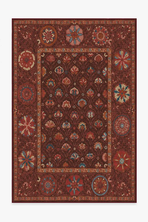 Washable Rug Cover & Pad | Latiff Autumn Rug | Stain-Resistant | Ruggable | 6'x9'