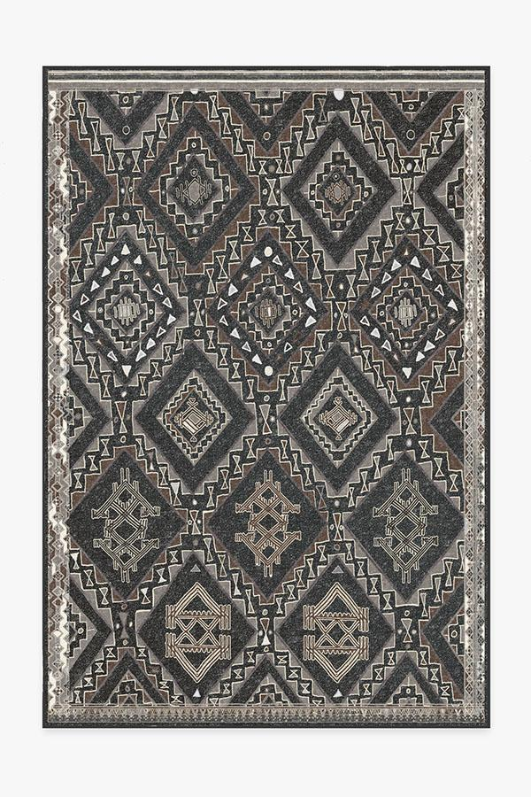 Washable Rug Cover & Pad | Lunja Lava Rock Rug | Stain-Resistant | Ruggable | 6'x9'