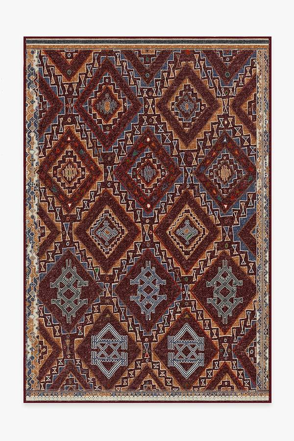 Washable Rug Cover & Pad | Lunja Plum Rug | Stain-Resistant | Ruggable | 6'x9'