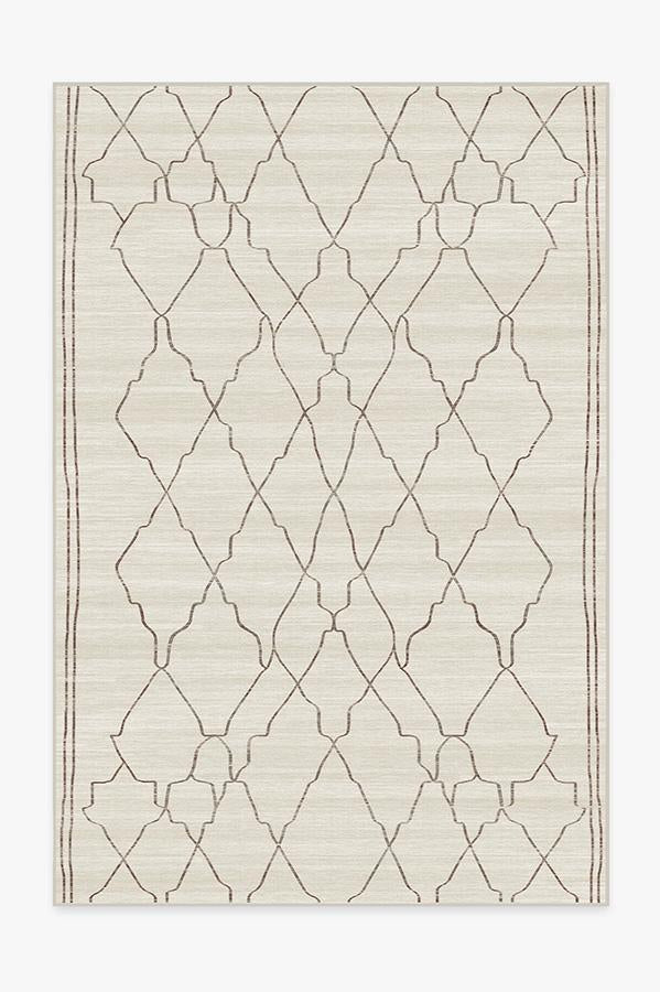 Washable Rug Cover | Marrakesh Beige Ivory Rug | Stain-Resistant | Ruggable | 6'x9'