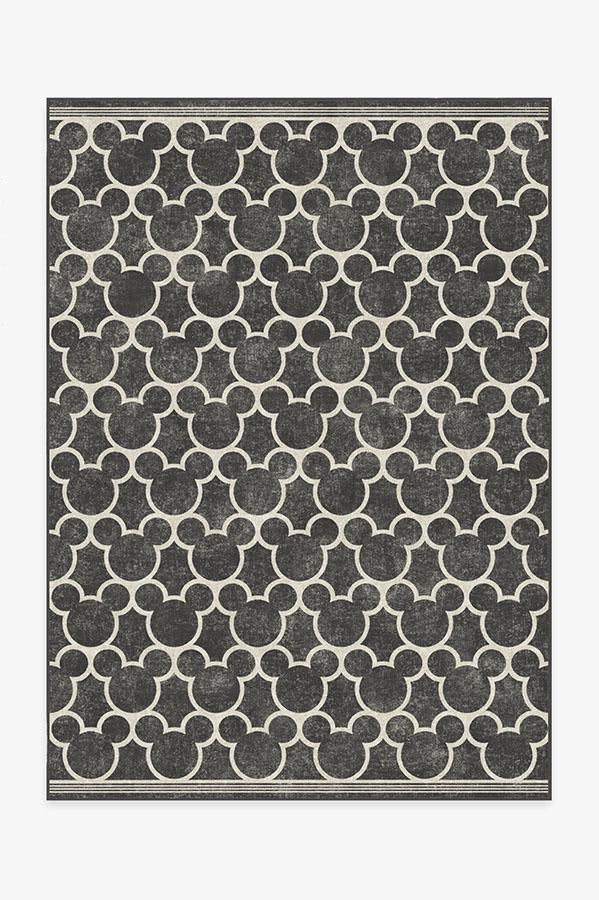Mickey Trellis Black Rug
