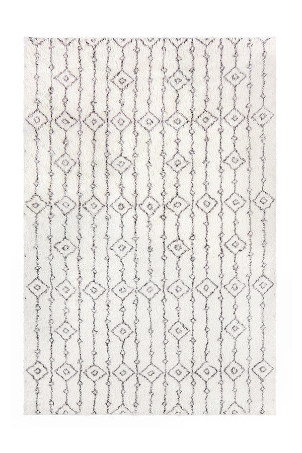 Washable Rug Cover & Pad | Moroccan Ornate Plush Rug | Stain-Resistant | Ruggable | 6'x9'