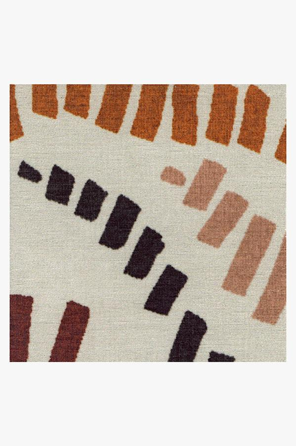 Machine Washable 2.5'x7' Naila Orange Rug