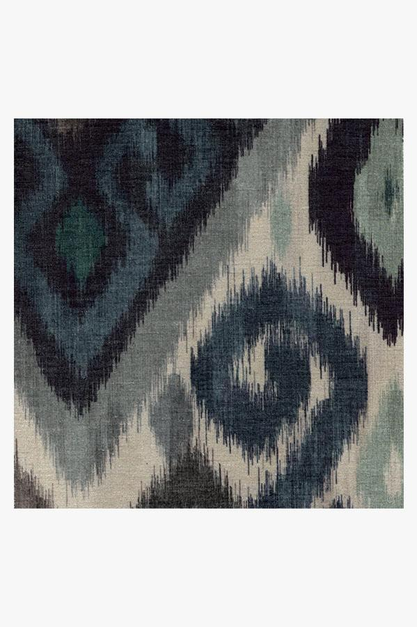 Machine Washable 2.5'x7' Orissa Slate Rug