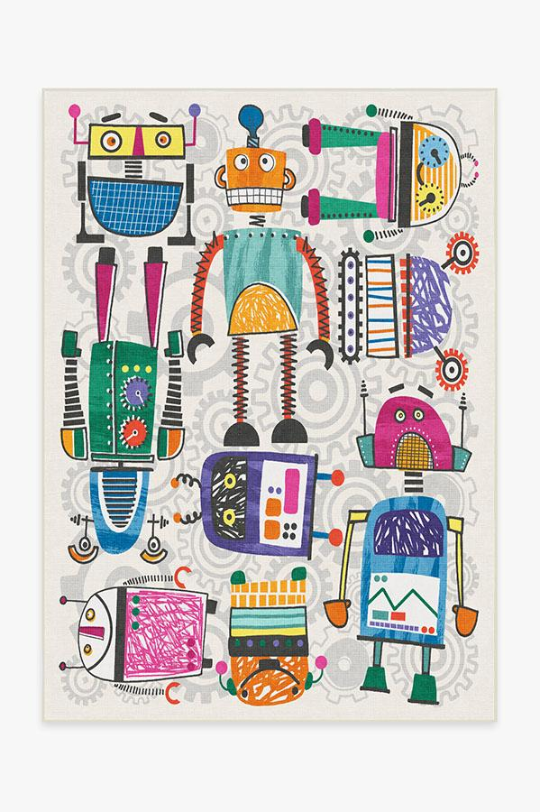 Robot Party Multicolor Rug