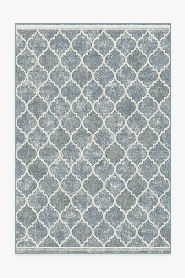 Washable Rug Cover | Terali Slate Rug | Stain-Resistant | Ruggable | 6'x9'