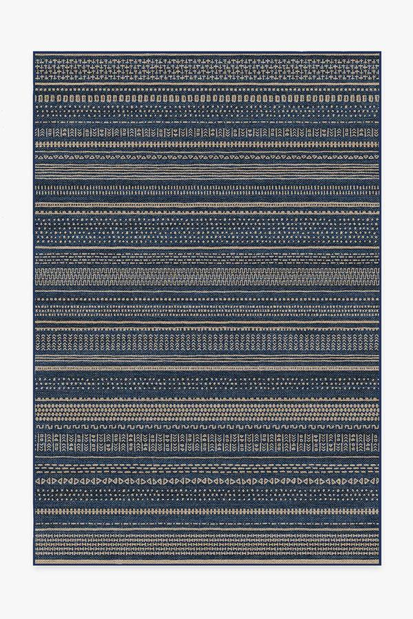 Washable Rug Cover | Terra Soft Navy Re-Jute Rug | Stain-Resistant | Ruggable | 6'x9'
