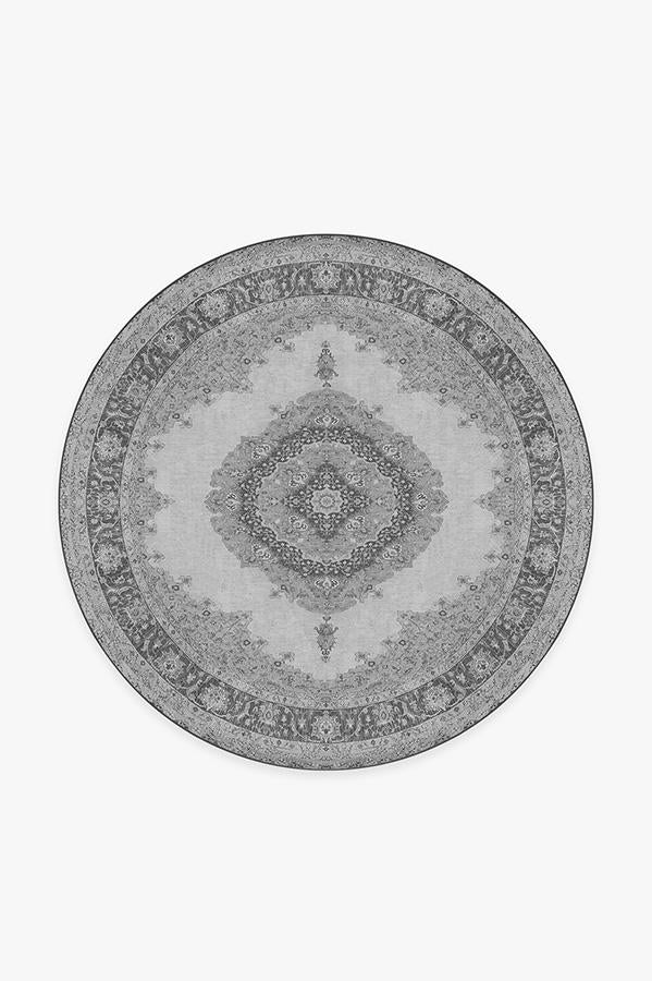 Washable Rug Cover | Victoria Grey Rug | Stain-Resistant | Ruggable | 6' Round Product Image