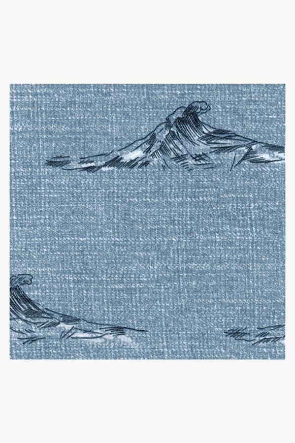 Machine Washable 2.5'x7' Whitecaps Chambray Rug