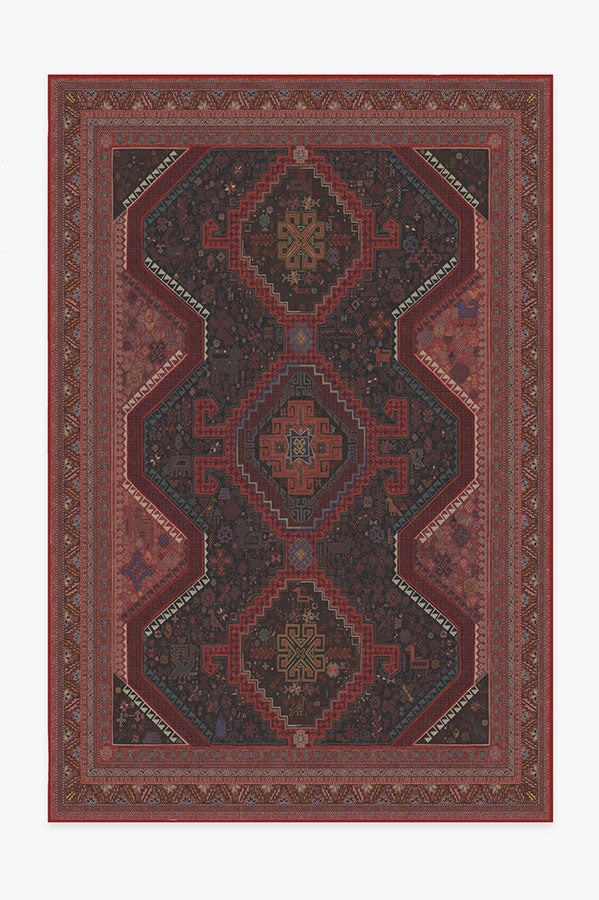 Washable Rug Cover | Zareen Oxblood Red Rug | Stain-Resistant | Ruggable | 6'x9'