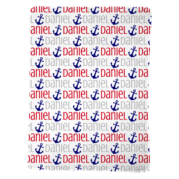 Personalized Anchor Baby Blanket for Boys
