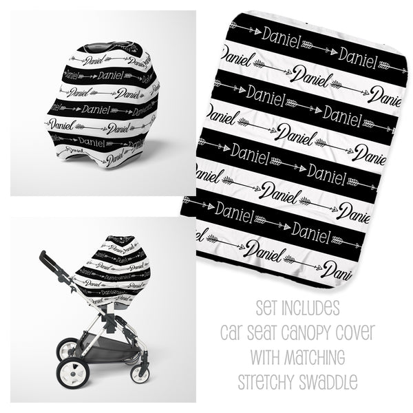 Tribal Arrow Car Seat Cover & Swaddle Set