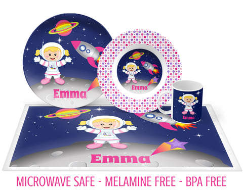 Astronaut Tableware for Girls